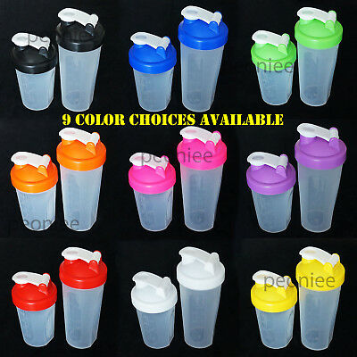 400/600ml BPAfree Shake Protein Blender Shaker Mixer Cup Drink Whisk Ball Bottle