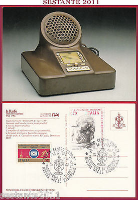 Italia Maximum Maxi Card Radio Storia 60 Anni Rai Phonola 547 1984 Torino C390