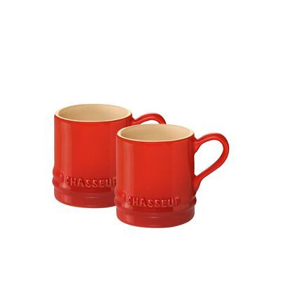 NEW Chasseur La Cuisson Petit Espresso Cups Set of 2 Red (RRP $19)