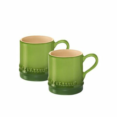 NEW Chasseur La Cuisson Petit Espresso Cups Set of 2 Apple (RRP $19)