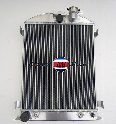 Aluminum Radiator For 1932 Ford Hi-Boy Ford Engine 3Row