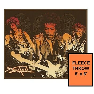 Jimi Hendrix 5' x 6' Fleece Throw Blanket