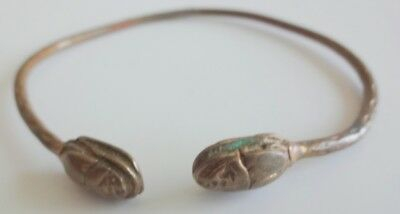 Antique Egyptian Revival Brass Scarab Cuff Bracelet