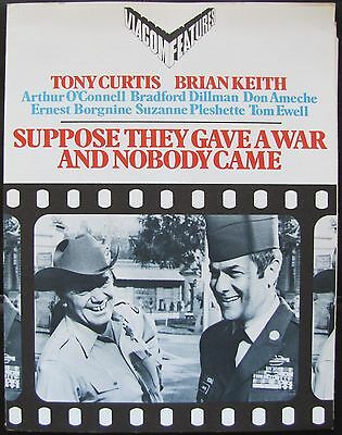 SUPPOSE THEY GAVE A WAR & NOBODY CAME Military Comedy PRESSKIT W/STILLS