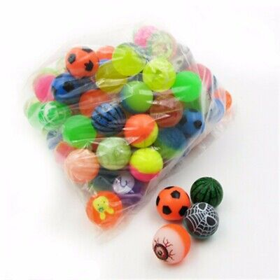 20-50Pcs Colorful 27mm Bouncy Jet Balls Kids Toy Birthday Party Loot Bag Filler
