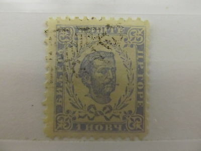 A1P11 MONTENEGRO 1894-98 1n GRAY BLUE USED