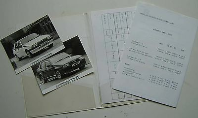 Alfa Romeo 75 2.0 TS & 3.0 V6 1987-88 Original UK Press Release & Photographs