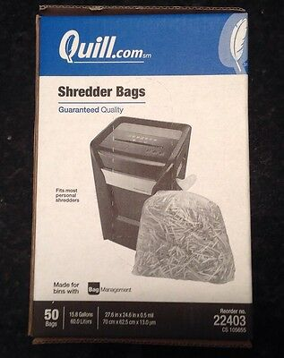 Quill shredder bags 15.8 gal, 50 count