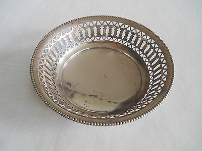 """Birks Sterling silver Ball Footed pierced Dish 4"""""""