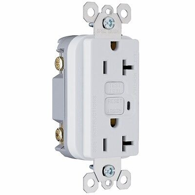 Pass and Seymour GFCI Duplex Receptacle 2095-NAW 20A 125VAC 60HZ, White
