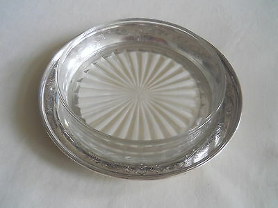 Mappin Sterling Silver Glass Butter Dishe