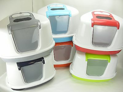 Hooded Corner Cat Litter Tray Loo Enclosed Flip Top Toilet Box or New Filter