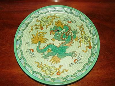 Art Deco Crown Ducal Charlotte Rhead Hand Painted Dragon Charger