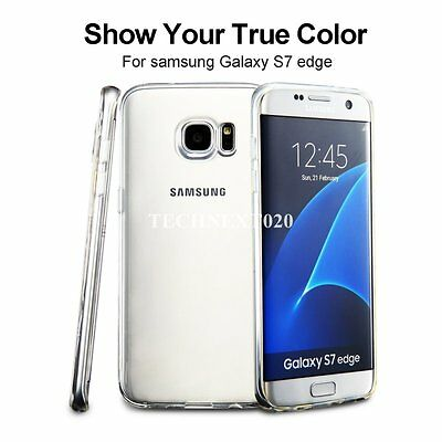For Samsung Galaxy S7 Edge Crystal Clear Silicone Case Cover Jelly Bumper Rubber