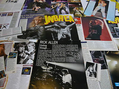 Def Leppard - Magazine Cuttings Collection (Ref X1H)