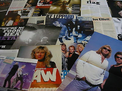 Def Leppard - Poster/magazine Cuttings Collection (Ref X1G)
