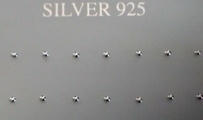 New Girls Ladies 925 Sterling Silver Plain Ball Small Tiny Stud Earrings 2.5mm