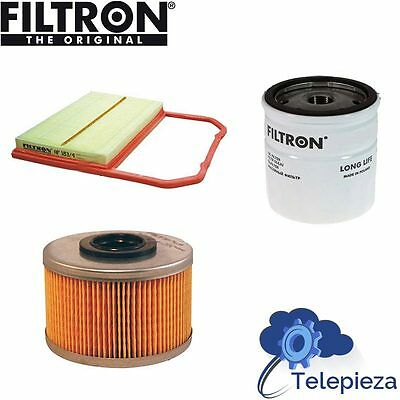 Filtros Aire+Aceite+Combustible Para Coche Vw Golf I 17 1.5 D Ck
