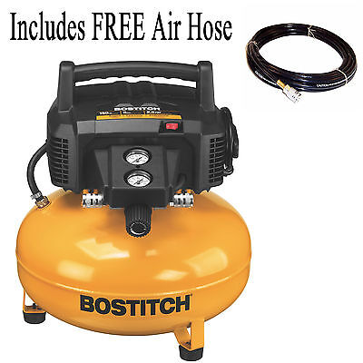 BOSTITCH 6 Gallon 150 PSI Oil Free Portable Pancake Air Compressor BTFP02012