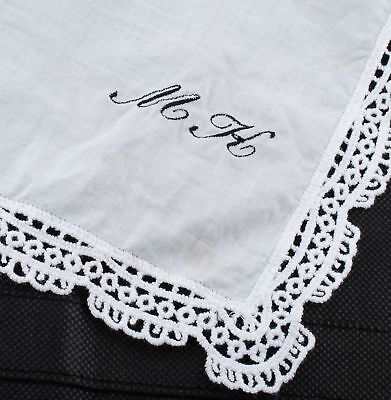 Personalized Embroidered Handkerchief Pocket Square Monogrammed Gift Handmade