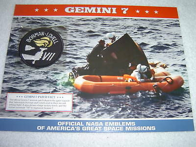 GEMINI 7 NASA 1965 SPACE MISSION PATCH SHEET Official Willabee & Ward W&W