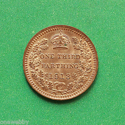 1913 - George V - Third Farthing - Uncirculated Full lustre cover - SNo40476.