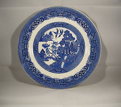 "soho pottery--solian ware blue/white 10"" plate---willow pattern---good condition"