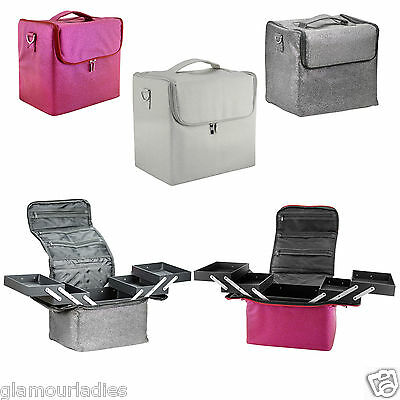 Large Vanity & Beauty Make up Nail Tech Cosmetic Box Case For Salon & Mobile