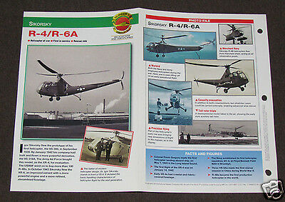 SIKORSKY R-4/R-6A Helicopter Photo Spec Sheet Booklet Brochure