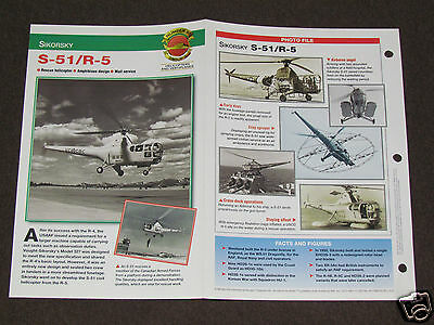 SIKORSKY S-51/R-5 Helicopter Photo Spec Sheet Booklet Brochure