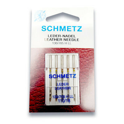 Schmetz Leather Needle Size 110/18 - Great for Denim, Leather, Suede Razor Edge