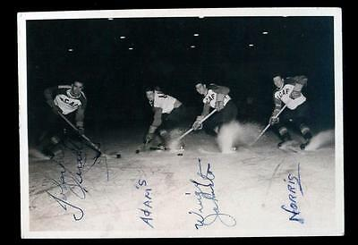Rare RCAF Hockey Photo Signed Canadiens Johnny Quilty and George Wingy Johnston!