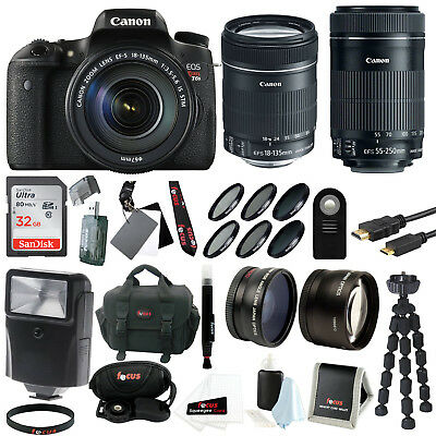 Canon EOS Rebel T6s EF-S 18-135mm IS STM and EF-S 55-250mm f/4-5.6 IS STM Kit