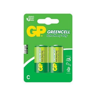 GP Batteries GP14G - C2 Green Cell Extra Heavy Duty C 1.5V Batteries Carded 2
