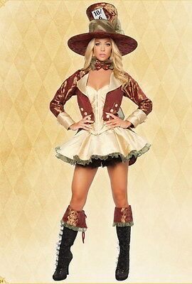 Déguisement Costume Femme Tea Party Alice Chapelier Pirate - Corset Jupon