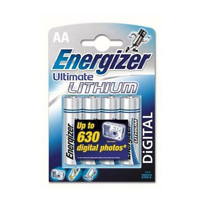 Energizer 636896 Ultimate Lithium AA Batteries Pack of 4