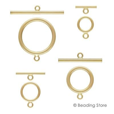 14ct Yellow Gold Filled Toggle Clasp T Bar Clasps Findings 14/20 Various Sizes