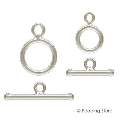 9mm or 12mm Silver Filled Toggle Clasp T Bar Clasps Findings Various Packages