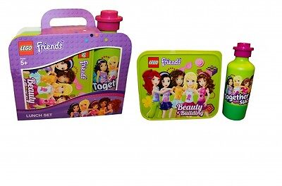 Lego Friends 'Lime Green' School Lunch Box And Bottle Set Brand New Gift