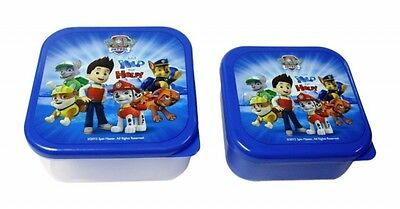 Paw Patrol 2 Pack School Lunch Sandwich Snack Pot Brand New Gift