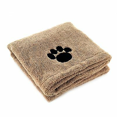New Super Absorbent Microfibre Pet Towel Puppy Cleaning Drying Blanket 90 x 60cm