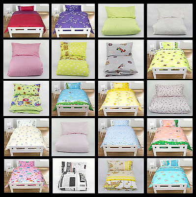 2/4 Pcs Duvet Cover Baby Bedding Nursery to Fit Cot Bed Pillowcase Quilt Set