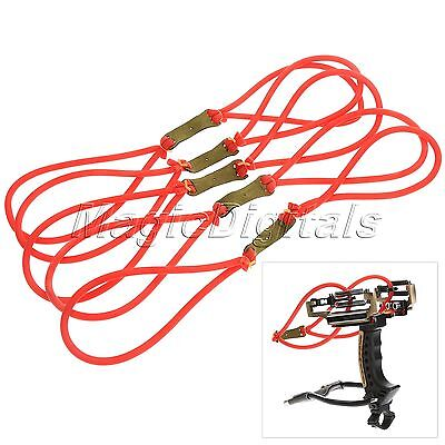 Red Tube Rubber Band Replacement Elastic Bungee for Slingshot Catapult Hunting