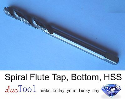 1/4-20 UNC Spiral Flute Tap Bottom GH3 Limit 2 Flute HSS Uncoated Bright Thread