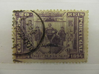 A1P12 AZORES 1894 20r USED