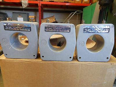 Electromagnetic Current Transformer 750:5 Lot Of Three Ct's For One Bid