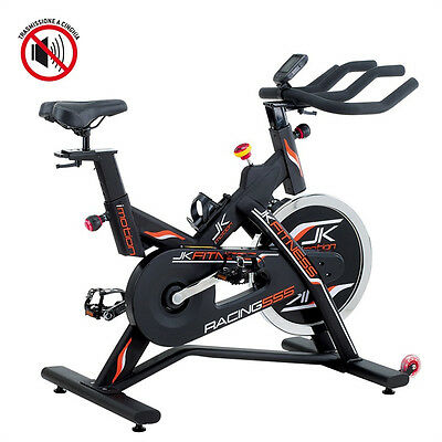 JK FITNESS indoor cycle RACING 555 - Trasmissione CINGHIA, Volano 24 Kg - JK 555