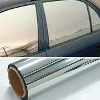 Chrome 20% Light Mirror Window Tint Film One Roll 10 Ft x 36 In Wide Lets In NEW