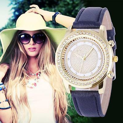Women's Watches New Fashion Leather Analog Stainless Steel Quartz Wrist Watch