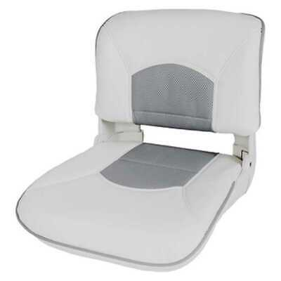 Tempress 45628 Profile Guide Series Boat Seat White/Gray Marine with Cushion